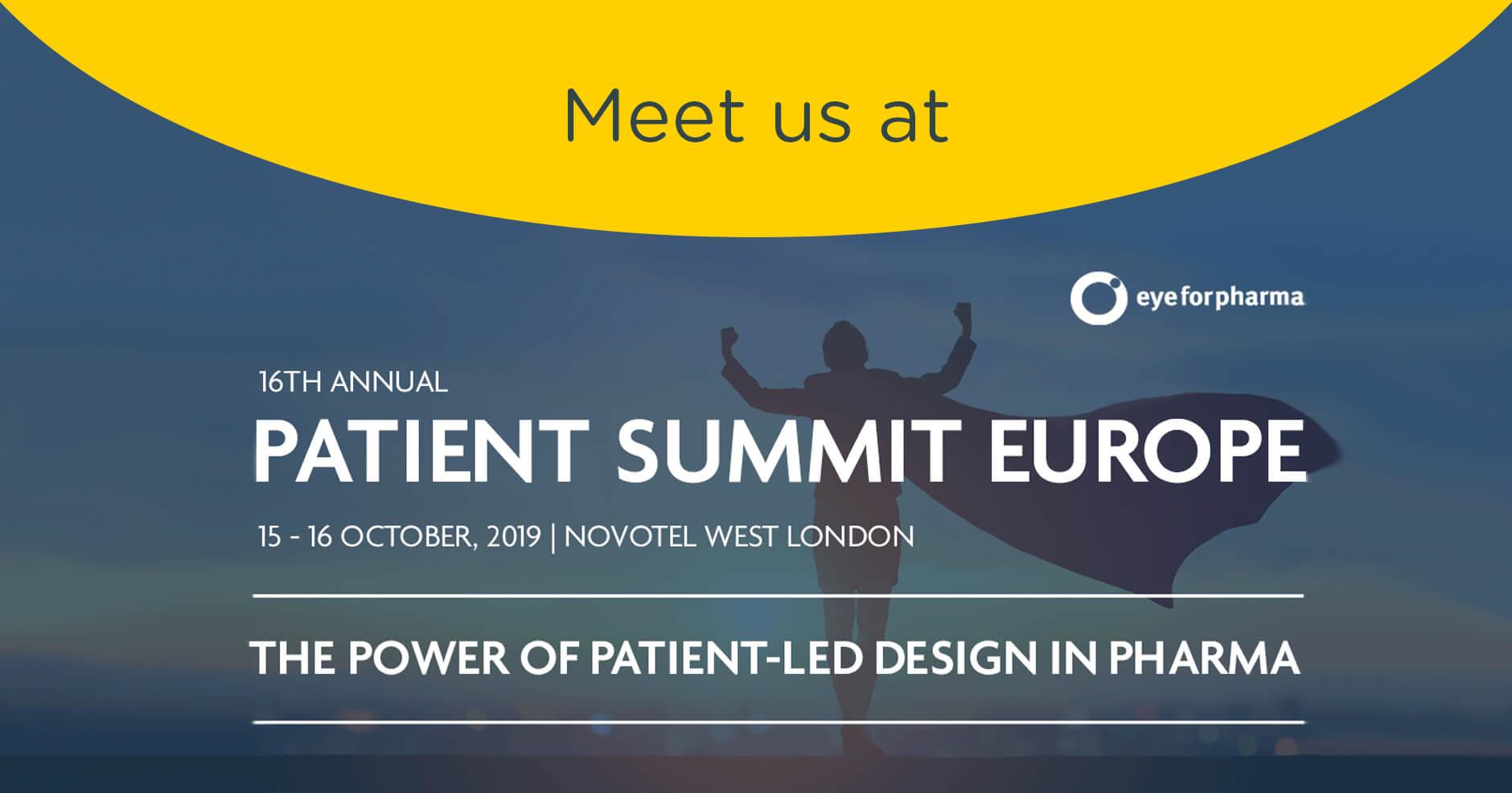eyeforpharma Patient Summit Europe – London 15-16 October