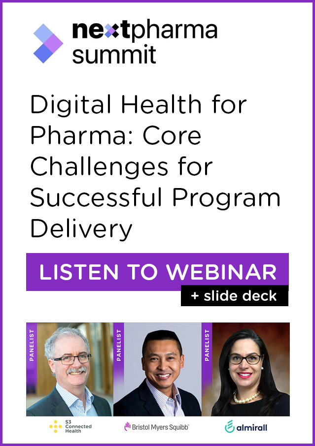 Webinar: Digital Health for Pharma - Core Challenges for Successful Program Delivery